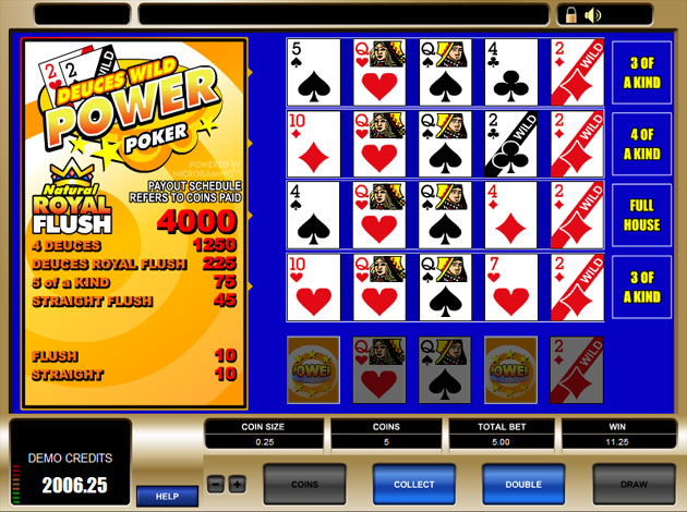 Join Deuces Wild Videopoker at Casino.com Canada