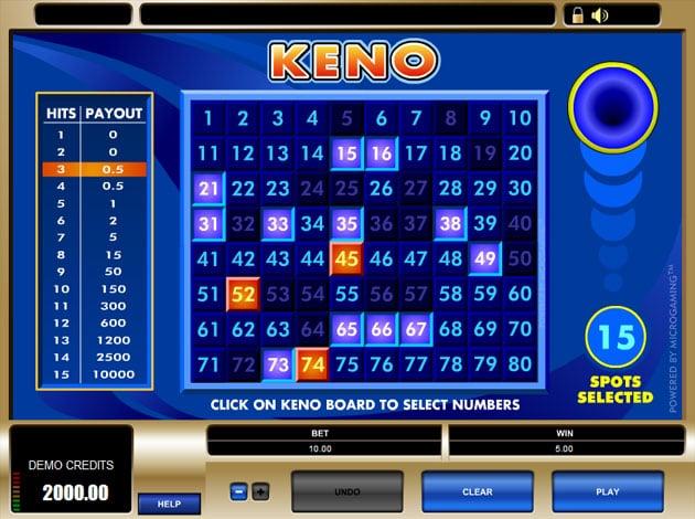 free keno slots for fun
