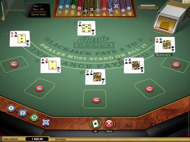 blackjack classic - 3 hand casino