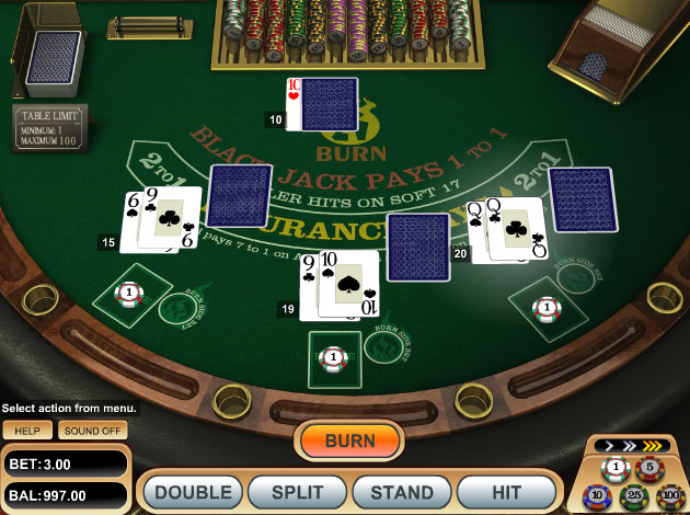 free blackjack 21 burn
