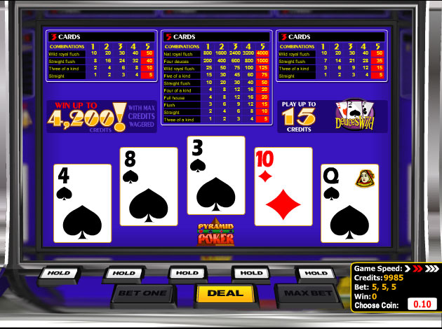 Play Pyramid Deuces Wild Poker Video Slot Free At Videoslots Com