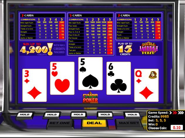 Play Pyramid Double Jackpot Poker Video Slot Free At Videoslots Com