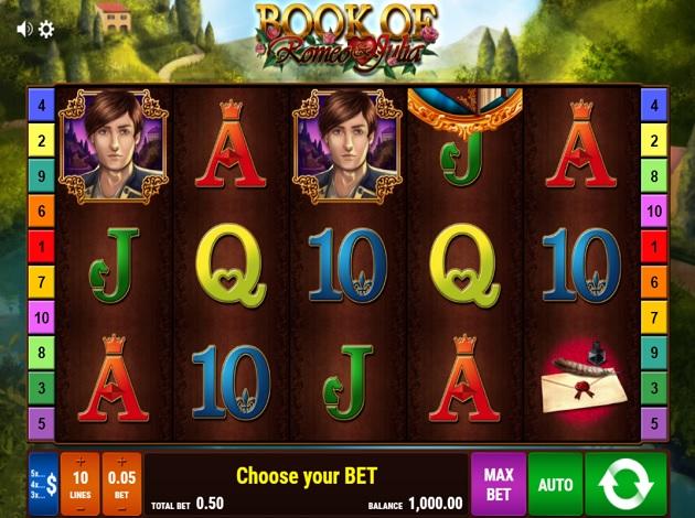 book of romeo and julia casino