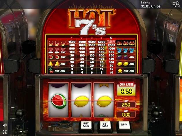 Slot Machine Four 7s