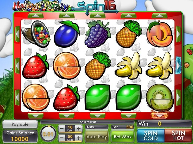 Horn of Plenty Spin 16 Slot Machine - Play Online for Free