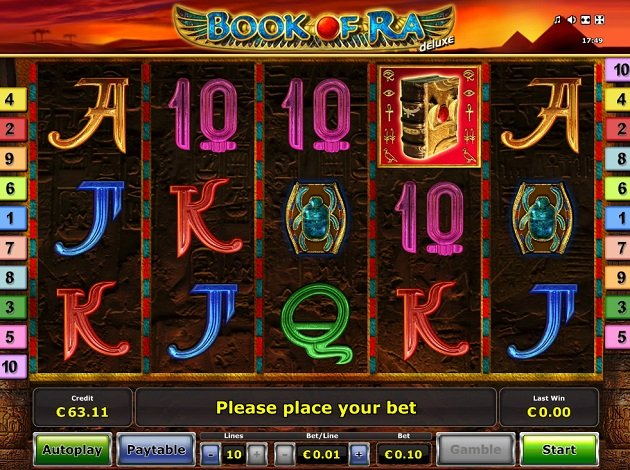 video slots book of ra free
