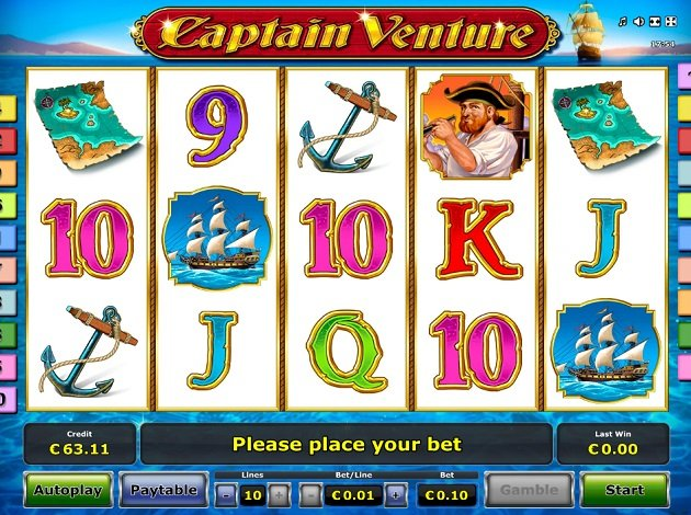 Play Captain Venture Video Slot Free At Videoslots Com