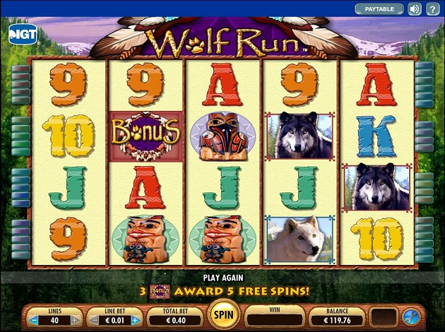Play Wolf Run Video Slot Free at Videoslots.com