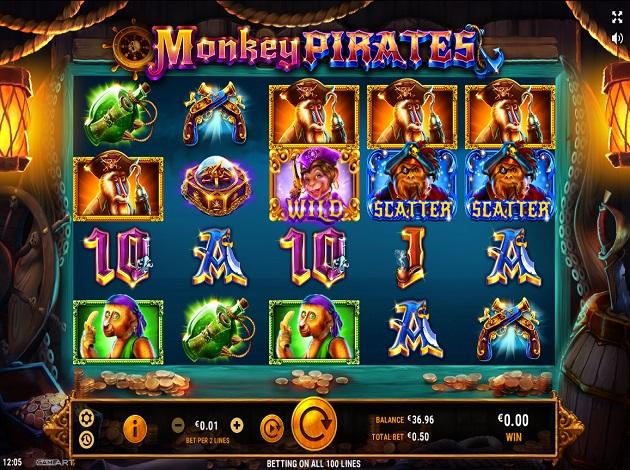Play Monkey Pirates Video Slot Free at Videoslots.com
