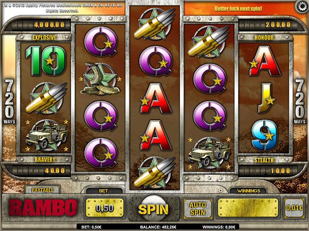 Enjoy Rambo Slots with No Download