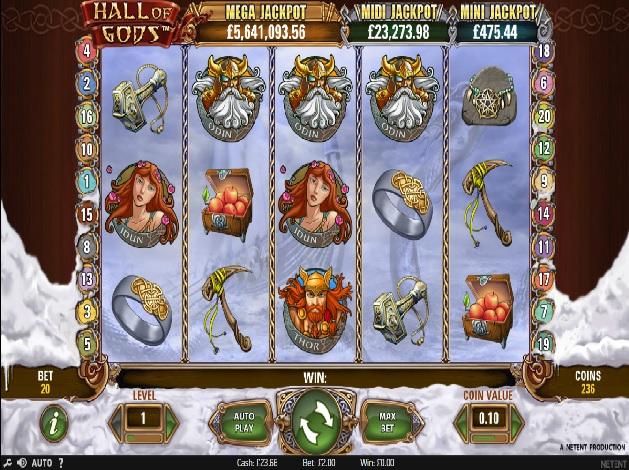 Hall of Gods Slots - Play Hall of Gods Slot Free No Download