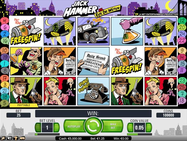 Jack hammer video slots