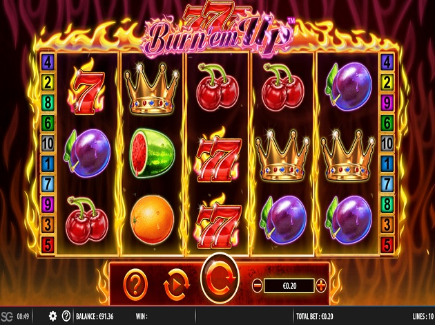 Play 777 Burn Em Up Video Slot Free at Videoslots.com