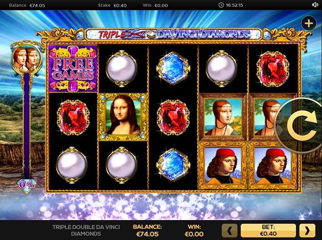 Play Triple Double Da Vinci Diamonds Video Slot Free At Videoslots Com
