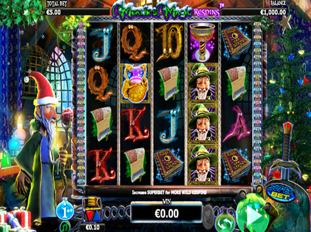 Merlin's Magic Respins - Christmas slot at Casumo