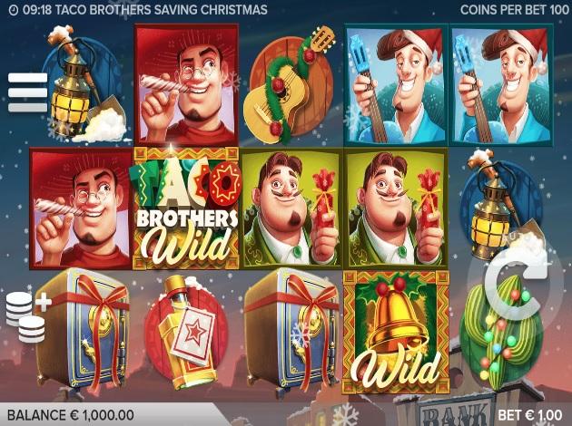 Saving Christmas.Play Taco Brothers Saving Christmas Video Slot Free At