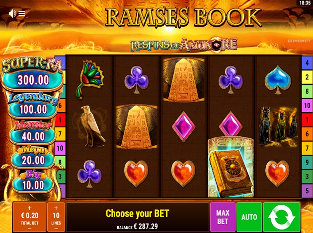 Spiele Ramses Book Respins Of Amun-Re - Video Slots Online