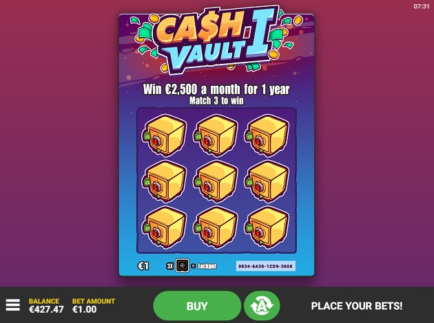 Play Cash Vault I Video Slot Free at Videoslots com