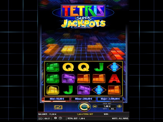 Play Tetris Super Jackpots Video Slot Free at Videoslots com